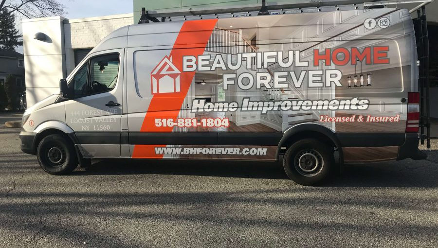 Custom Vehicle Wrap for Beautiful Home Forever